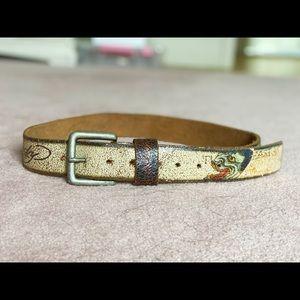 Ed Hardy Japan Leather Belt